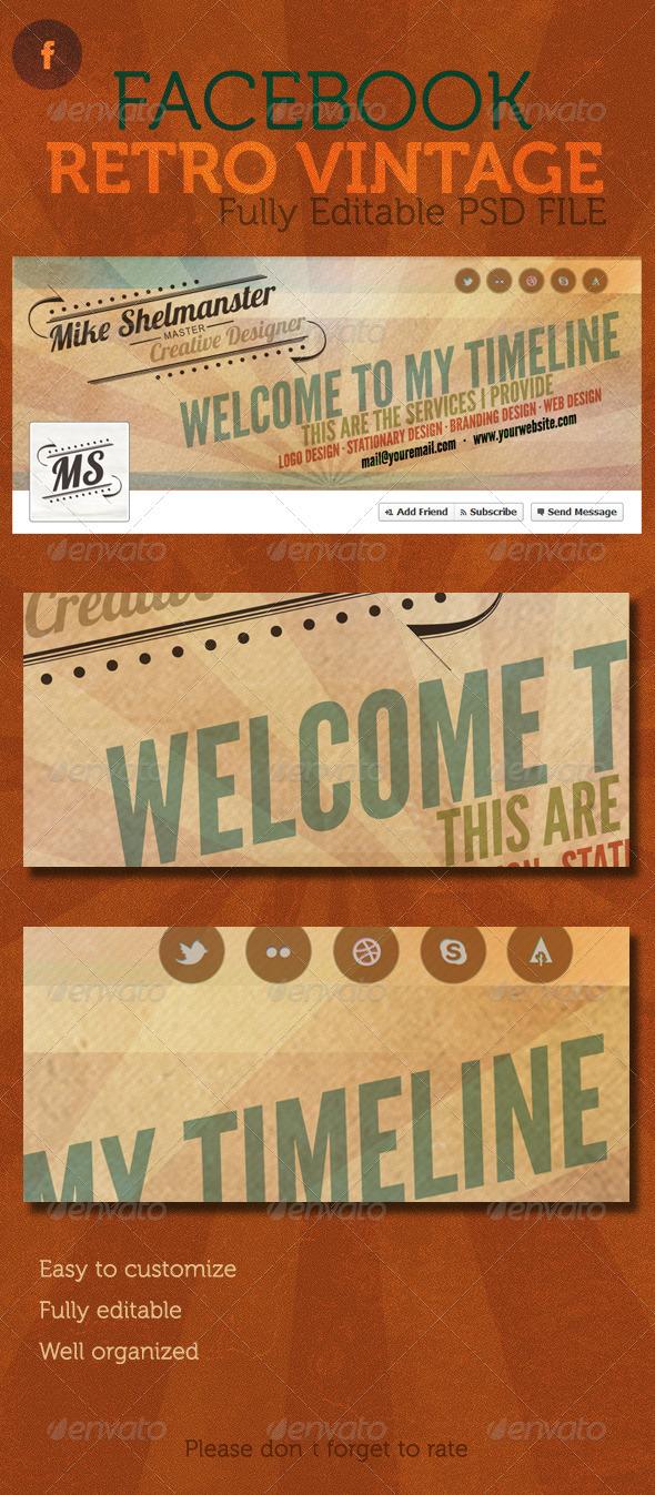 GraphicRiver Facebook Retro Vintage Timeline Cover 2490871