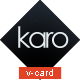 Karo - Virtual Business Card Template - ThemeForest Item for Sale