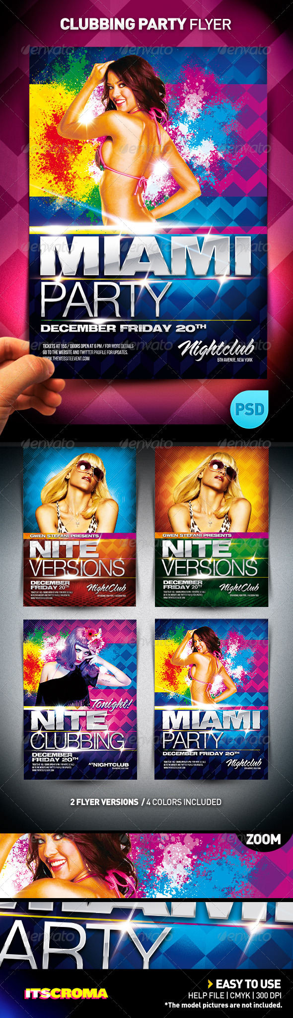 Graphic River Clubbing Party Flyer Print Templates -  Flyers  Events  Clubs & Parties 757168