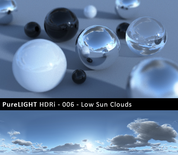 3DOcean PureLIGHT HDRi 006 Low Sun Clouds 91622