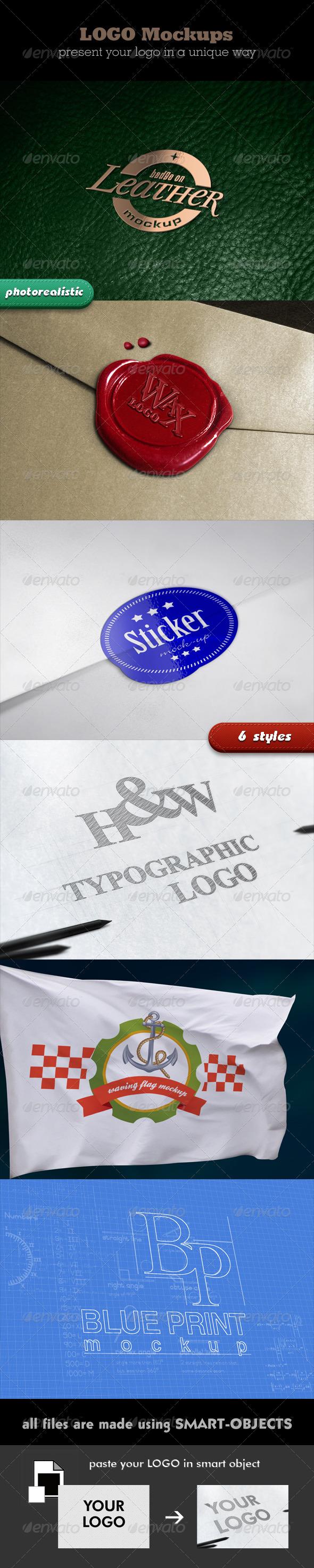 GraphicRiver Photorealistic Logo Mockups 2507323