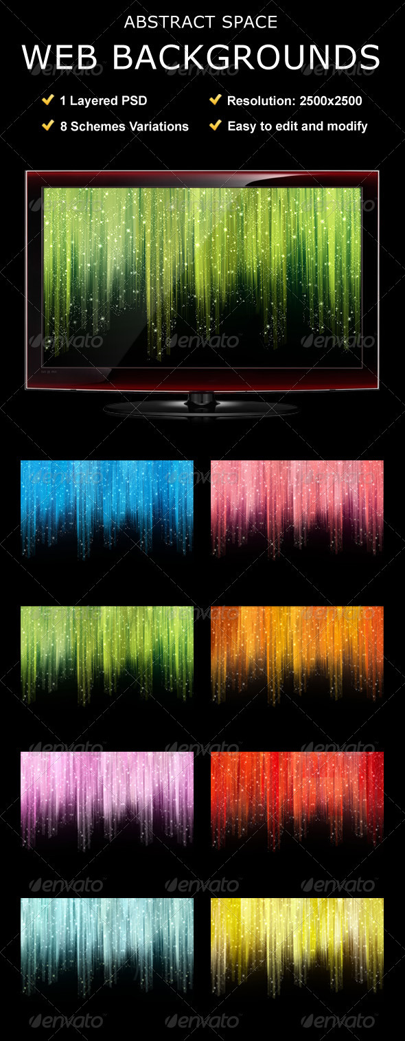 GraphicRiver Abstract Space Web Backgrounds 105100