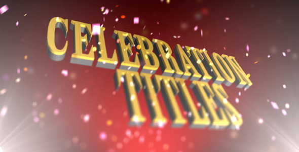 After Effects Project - VideoHive Celebration Titles 2512490