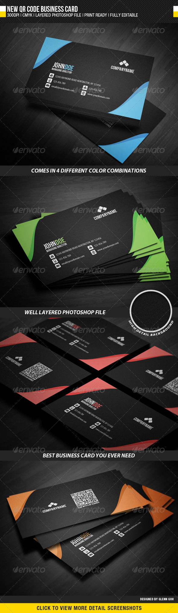 GraphicRiver New QR Code Business Card 2512920