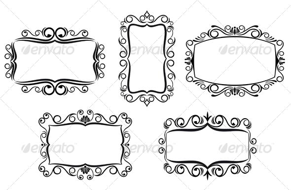 Graphic River Vintage frames Vectors -  Decorative 91793