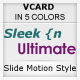 Sleek n Ultimate VCARD - IN 5 UNIQUE COLORS - ThemeForest Item for Sale