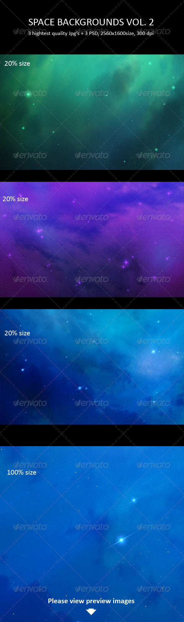 GraphicRiver Space Backgrounds Vol 2 281977