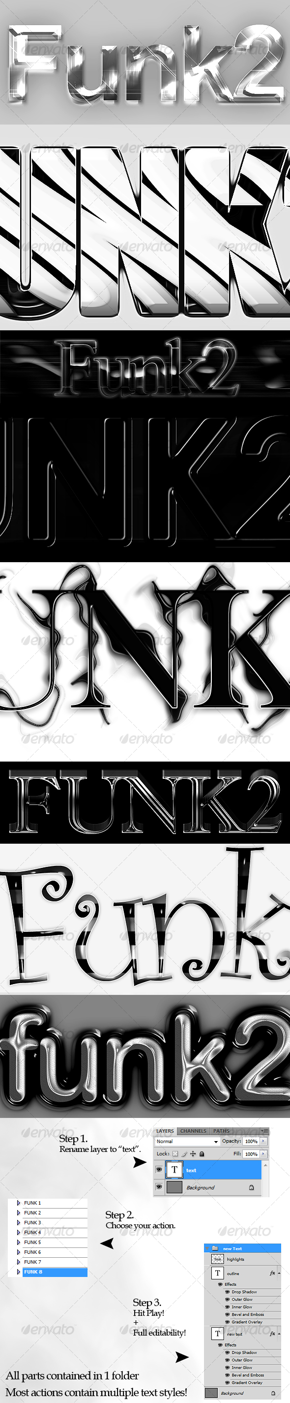 GraphicRiver Funk Text Style Actions Pack 2 91981
