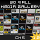 3D Wall Media Gallery + CMS, Youtube, Deeplinking - ActiveDen Item for Sale
