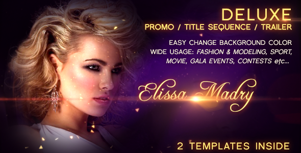 VideoHive Deluxe Promo Title Squence Trailer 2497955