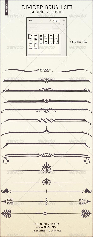 GraphicRiver Divider Brush Set 2521987