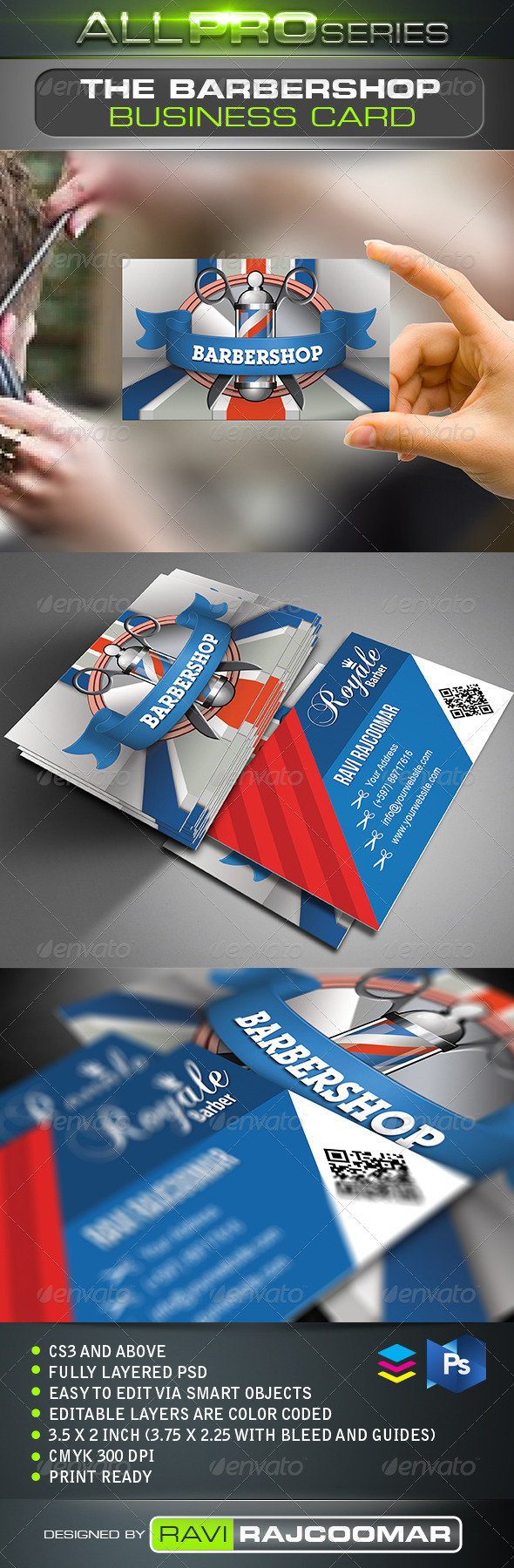 GraphicRiver The Barbershop Business Card 2522999