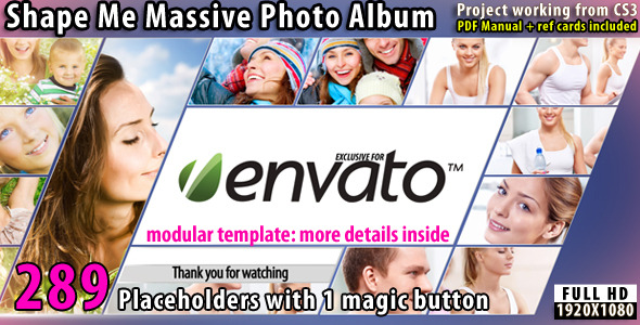 VideoHive Shape Me Massive Photo Album 2523259