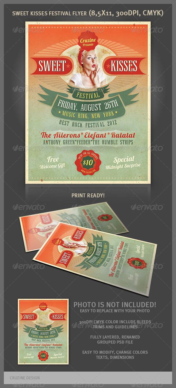 GraphicRiver Sweet Kisses Festival Flyer 2525353