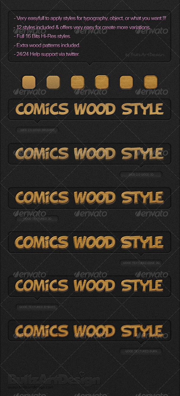 GraphicRiver Comics Wood Styles 92208