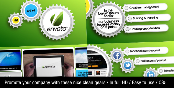 VideoHive Clean Gear Company Promotion 2526856