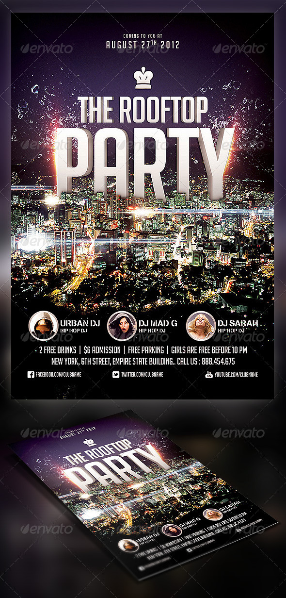 GraphicRiver Roof Top Party flyer 2528070