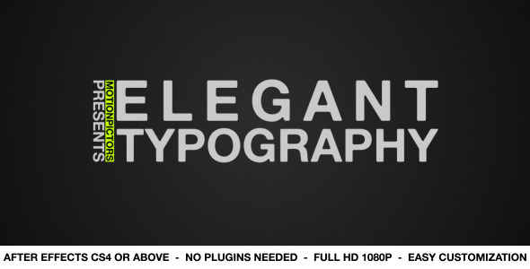 After Effects Project - VideoHive Elegant Typography 2529635