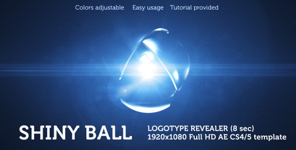 After Effects Project - VideoHive Shiny Ball Logo Revealer 2529679