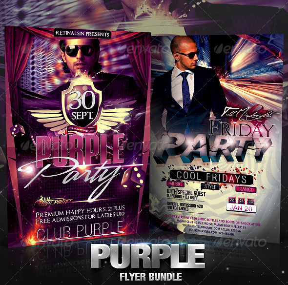 GraphicRiver Purple Flyer Bundle 2534490