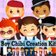 Boy Creation Kit - Modern Boy Cartoon Vector Pack - GraphicRiver Item for Sale
