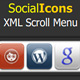 XML Social Icons Scrolling menu - ActiveDen Item for Sale