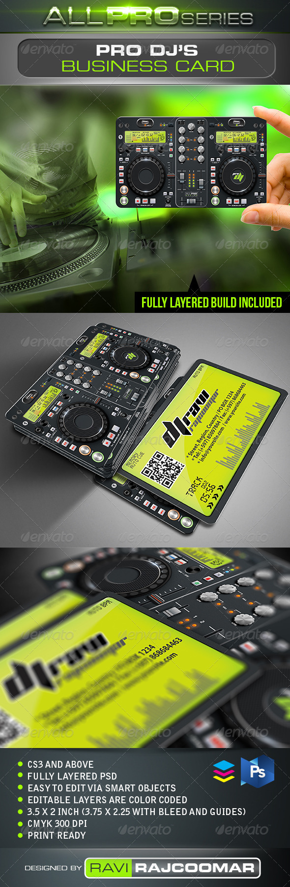 GraphicRiver Pro DJ Business Card 2522561