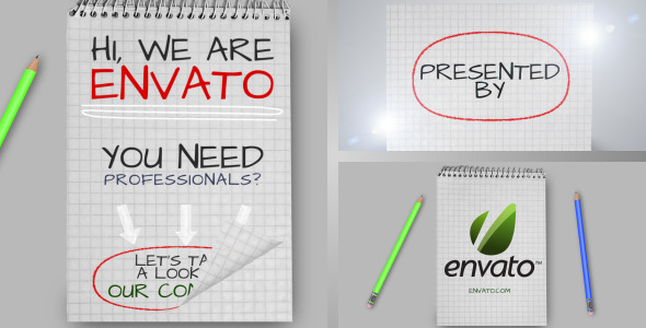 VideoHive Notes Promotion& Bonus Intro 2515077