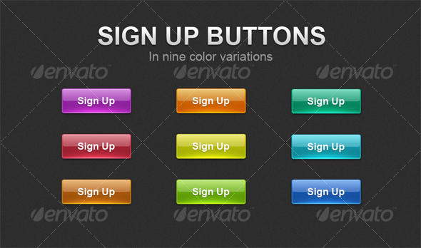 GraphicRiver Sign Up buttons 92641