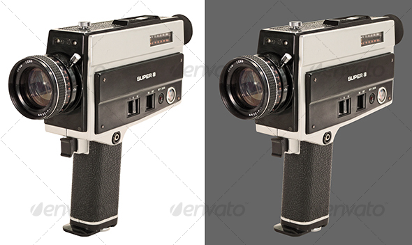 Graphic River Super 8 Film Camera Isolated Objects -  Technology 92651