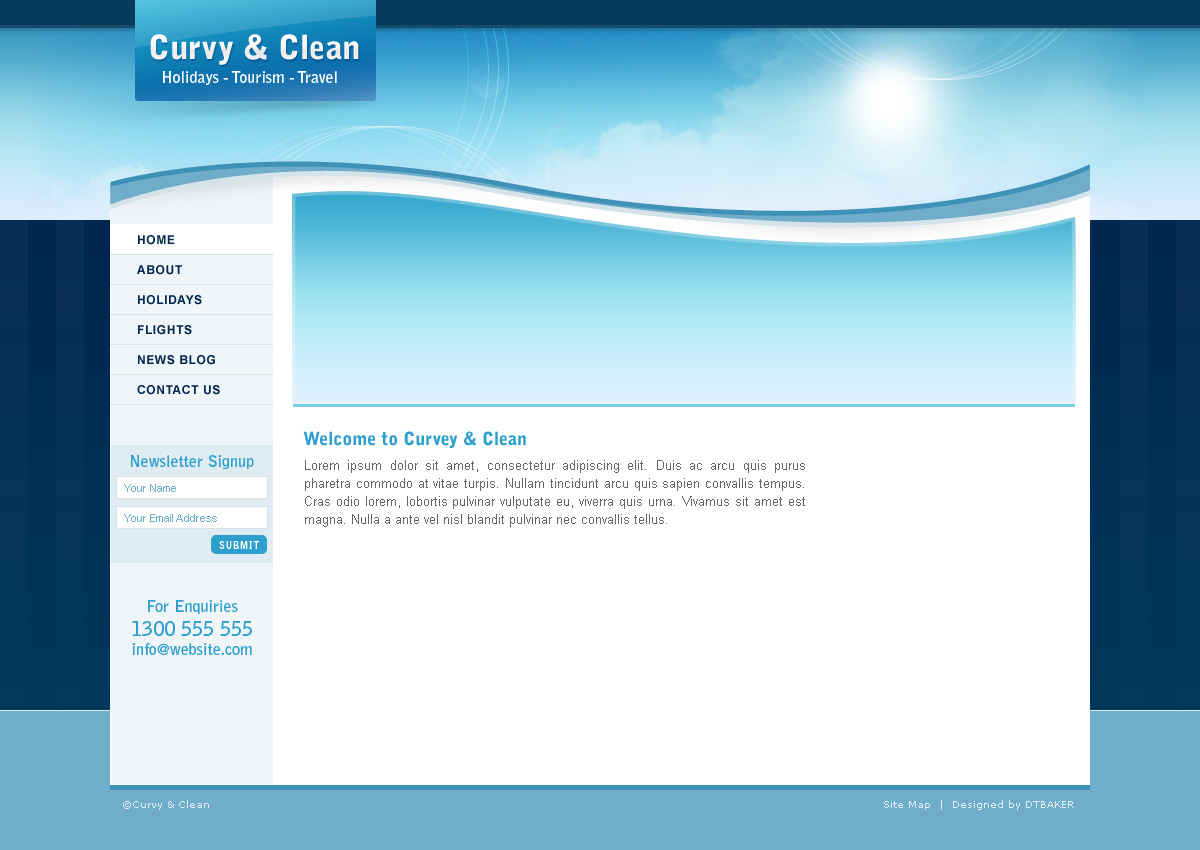 Html Blank Page Template