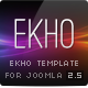 EKHO Unique Joomla Template - ThemeForest Item for Sale