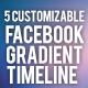 Facebook Colorful Gradient Timeline For Company - GraphicRiver Item for Sale