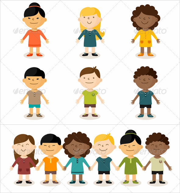 GraphicRiver Multicultural Children 2533453