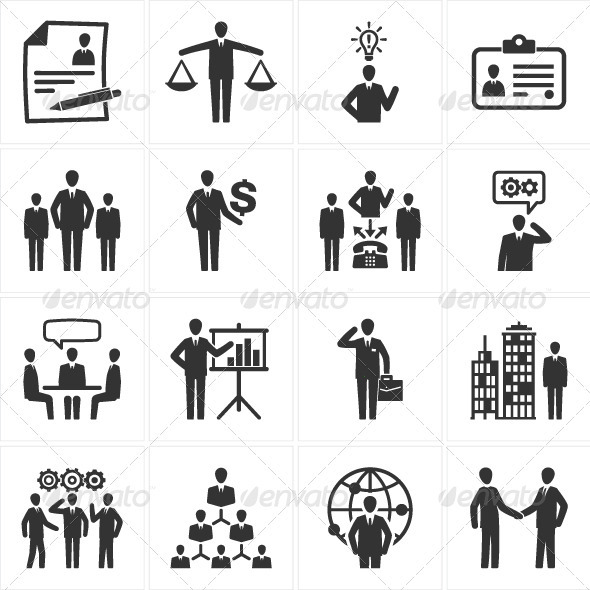 GraphicRiver Management and Human Resource Icons 2535265