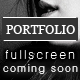 Coming Soon Page with a Full Screen Portfolio - ThemeForest Item for Sale