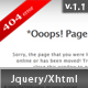 Fancy Jquery 404 Error Popup - ThemeForest Item for Sale