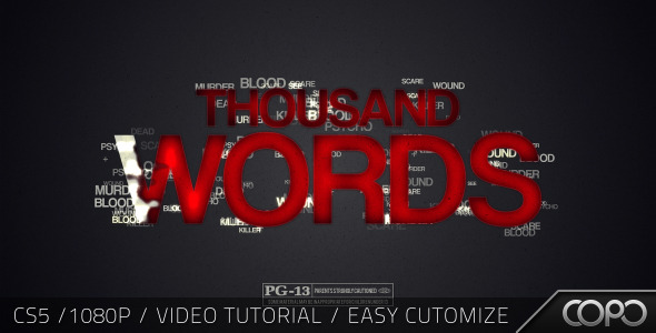 VideoHive Thousand Words Cinematic Title 2517659