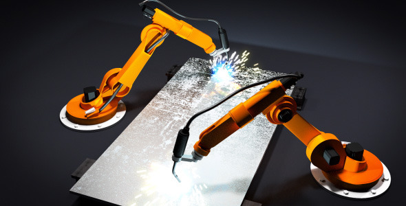 After Effects Project - VideoHive Robot arms welding 2550804