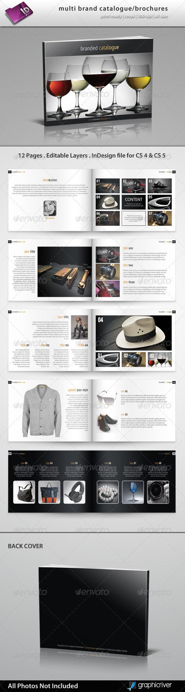 GraphicRiver Multi Brand Catalogue Brochure 2551857