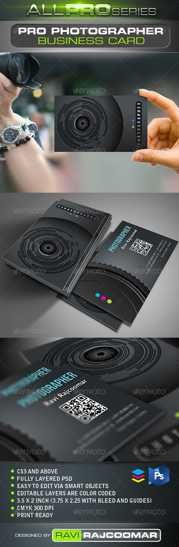 GraphicRiver Pro Photographer Business Card 2522142