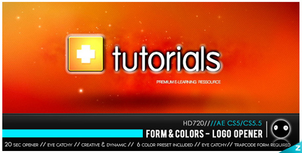 After Effects Project - VideoHive Form & Colors Logo Opener 2539895