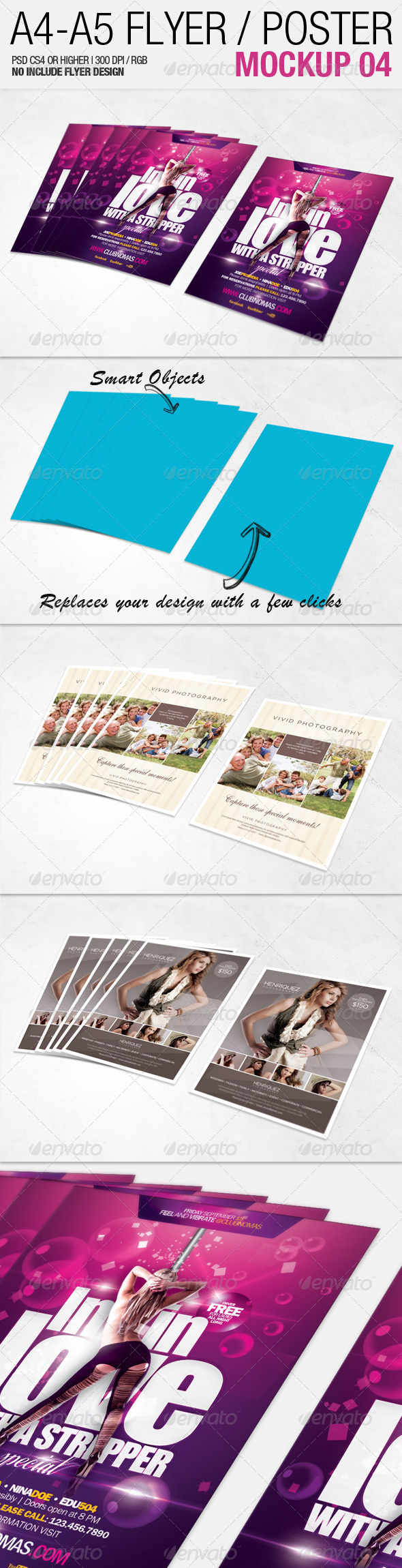 GraphicRiver A4 A5 Flyer Mockup 04 2557645