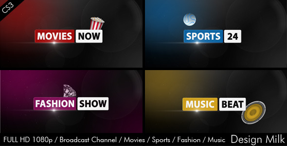 After Effects Project - VideoHive Broadcast Channel Movies Sports Fashion M ...