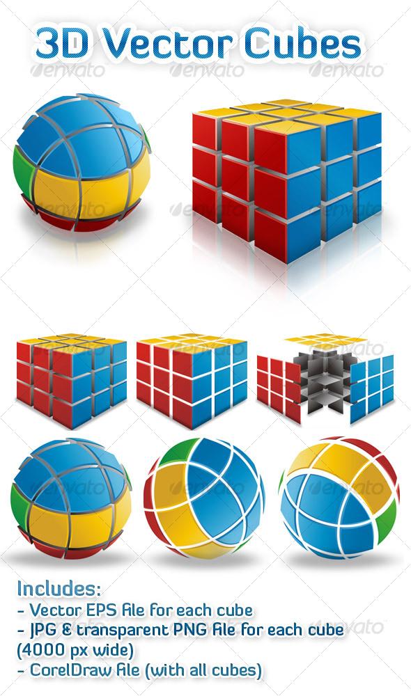 GraphicRiver 3D Vector Cubes 93196