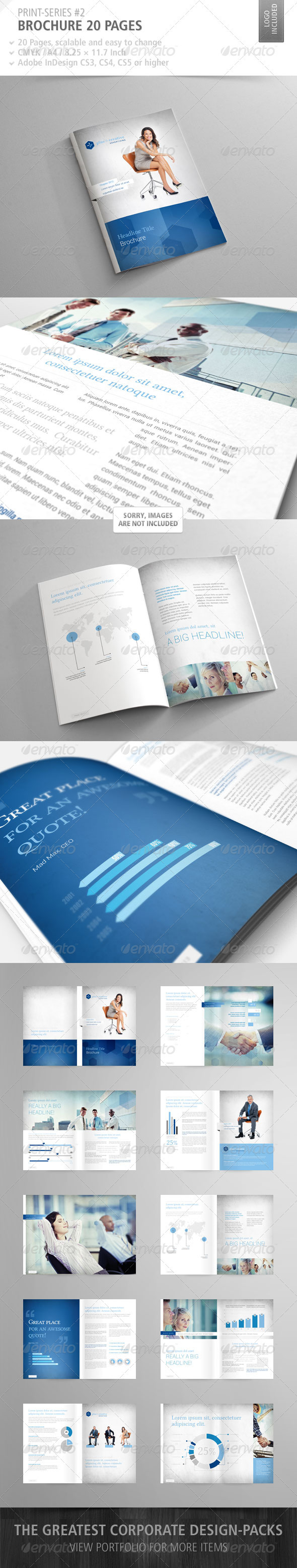 GraphicRiver Brochure 20 Pages Print-Series #2 2540433