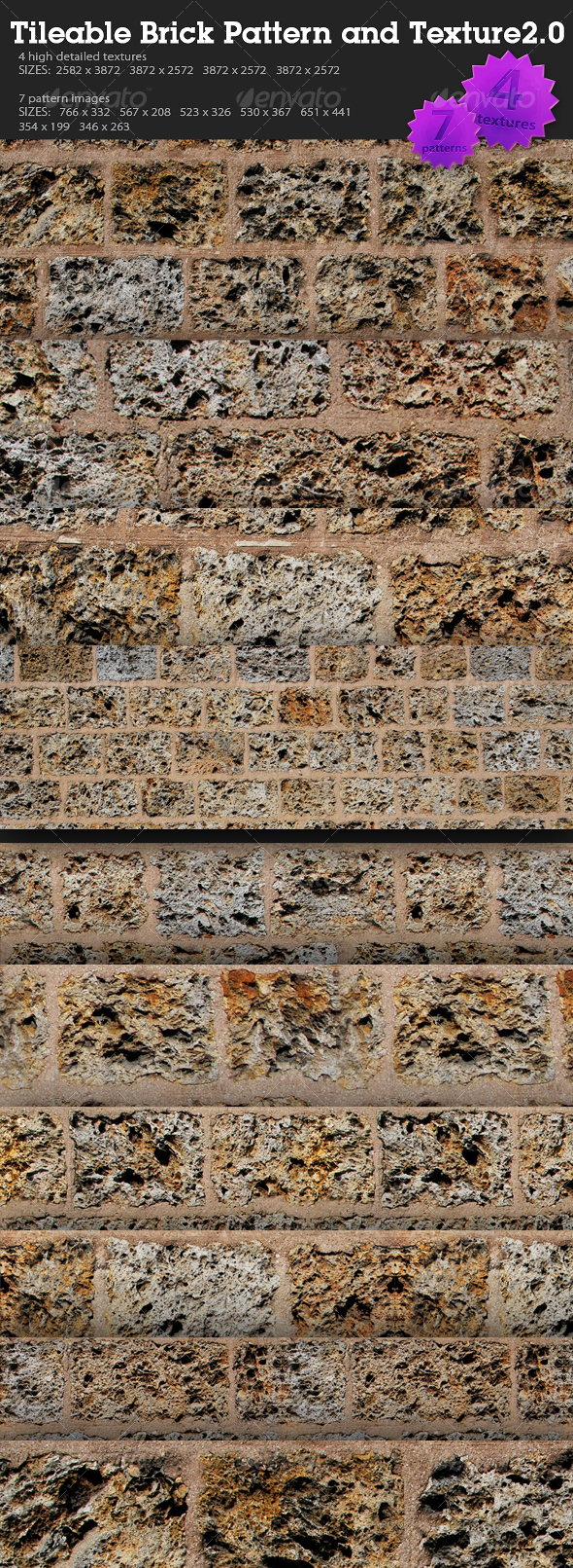 GraphicRiver Tileable Brick Pattern and Texture 2.0 93216