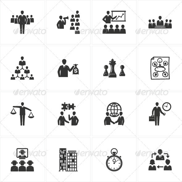 GraphicRiver Management and Business Icons 2560622