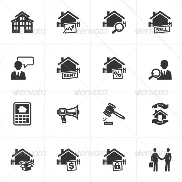 GraphicRiver Real Estate Icons 2560799