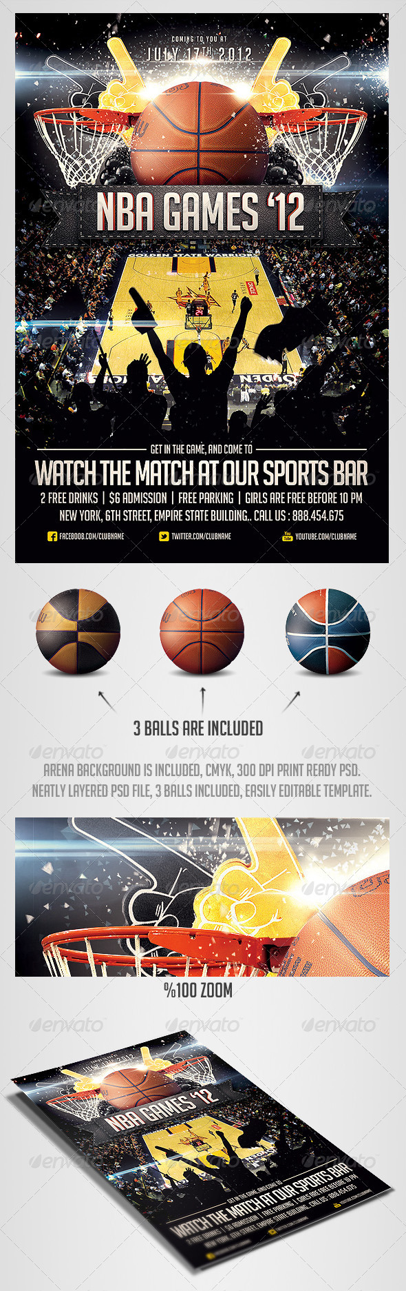 GraphicRiver BasketBall Sports Flyer Template 2561828